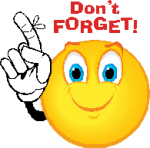 Don't Forget! smiley icon